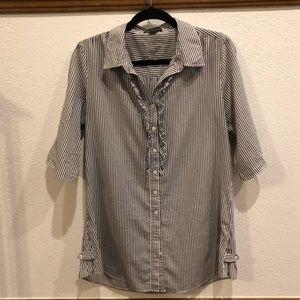 Black & White Striped Tunic Shirt